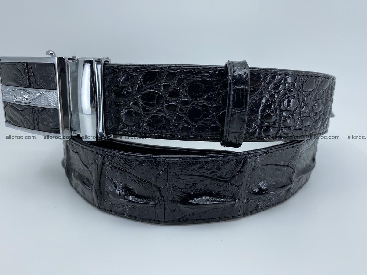 Crocodile leather hornback belt 715 Foto 12