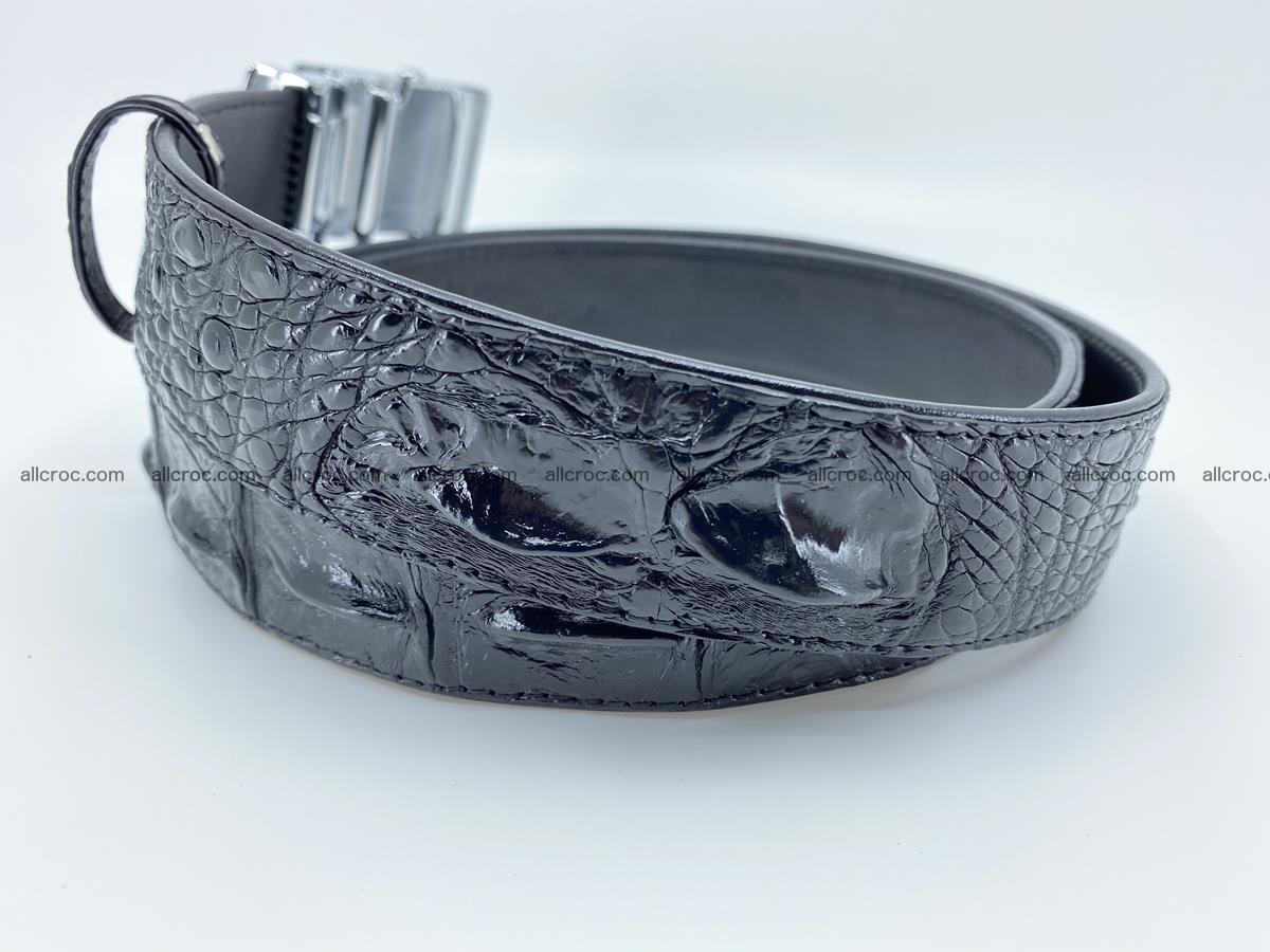Crocodile leather hornback belt 715 Foto 9