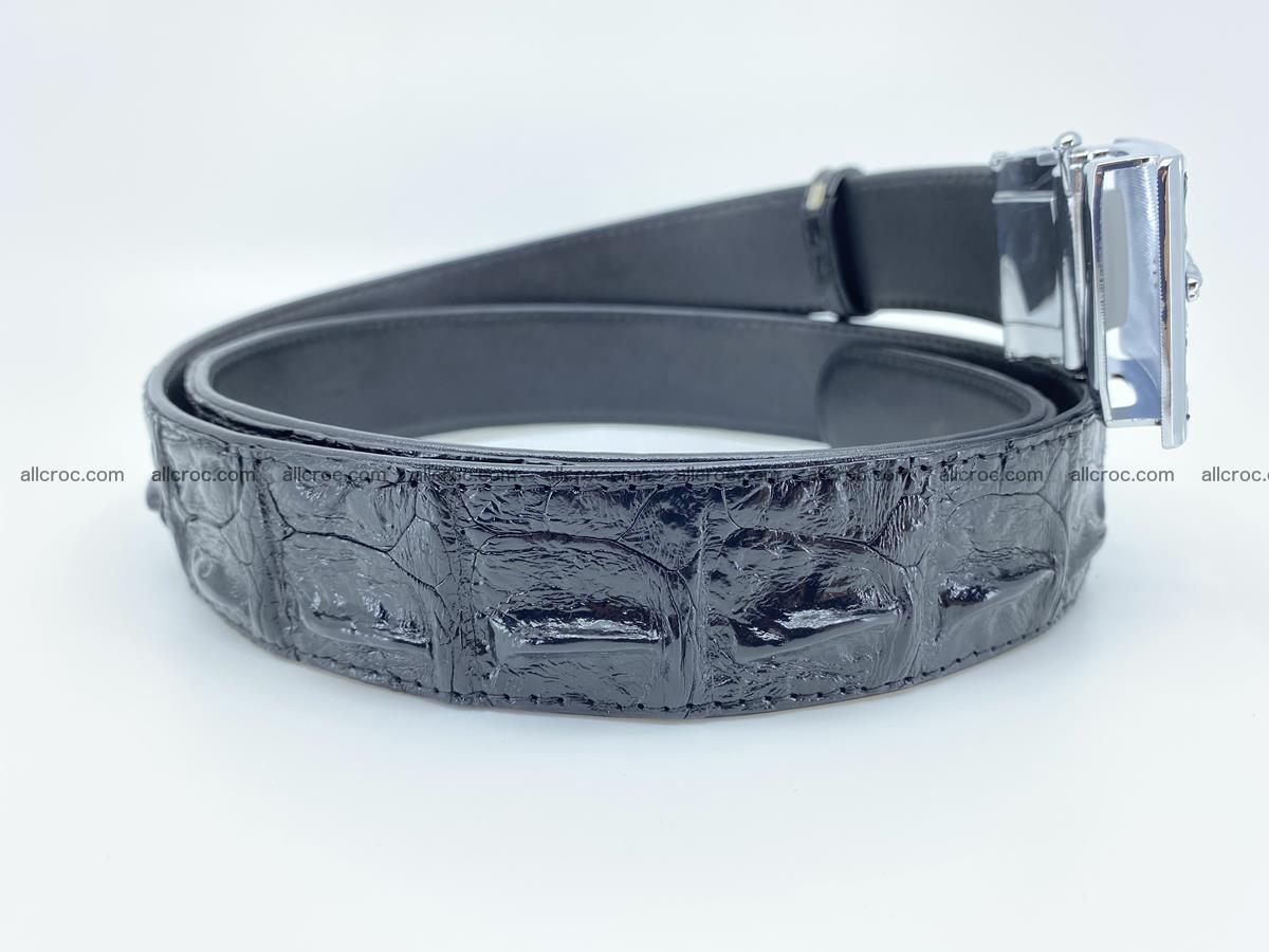 Crocodile leather hornback belt 715 Foto 11