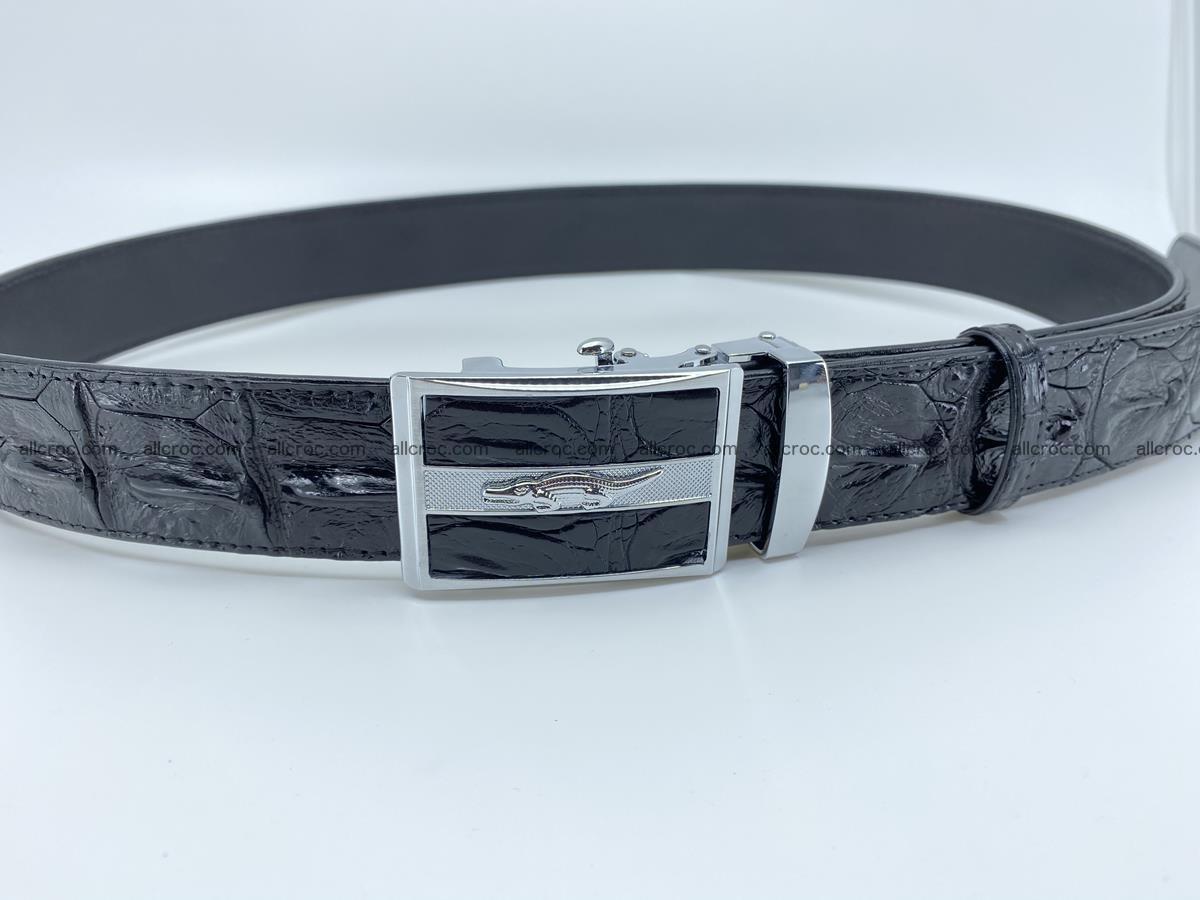 Crocodile leather hornback belt 715 Foto 8