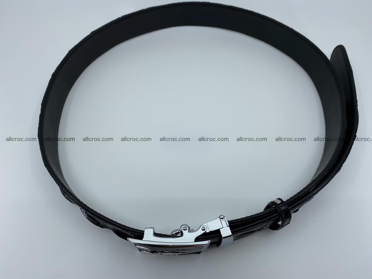 Crocodile leather hornback belt 715 Foto 5
