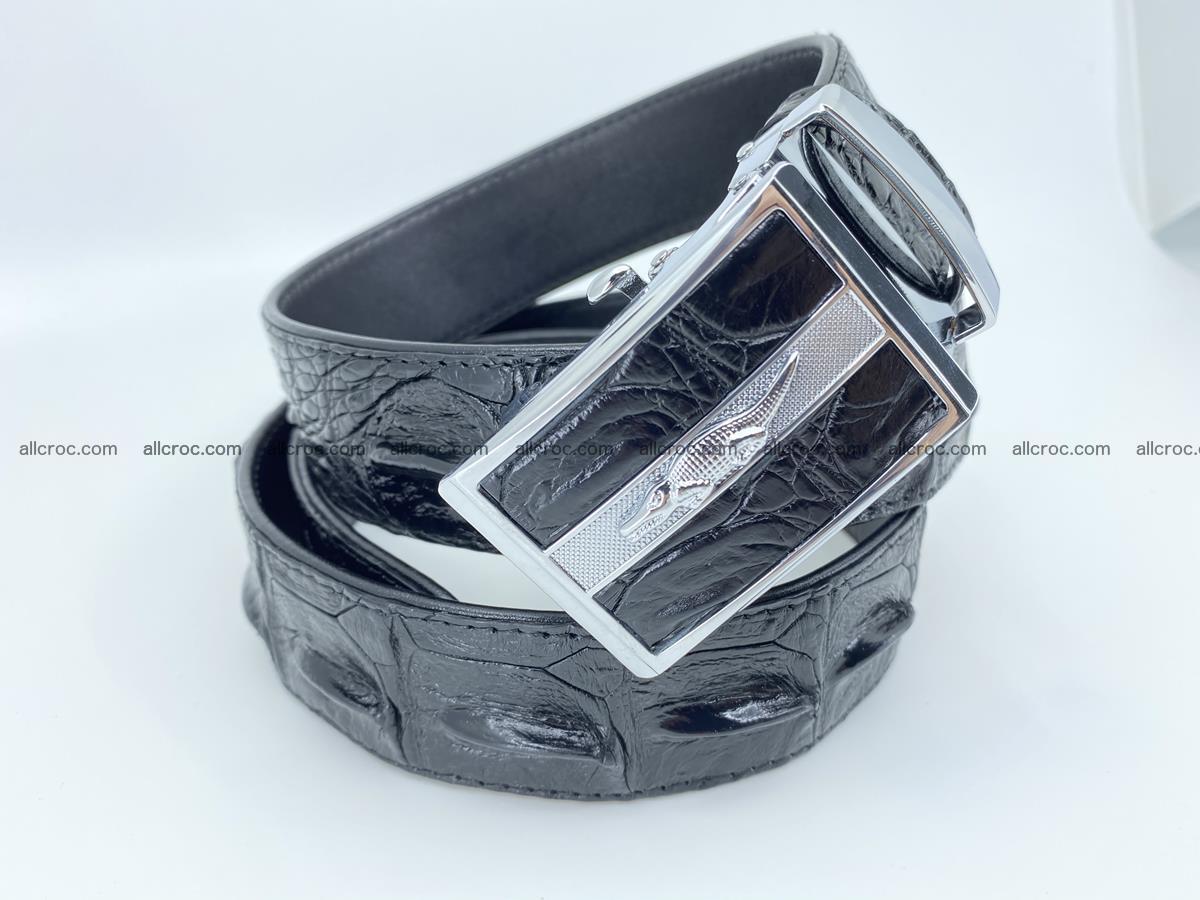 Crocodile leather hornback belt 715 Foto 13