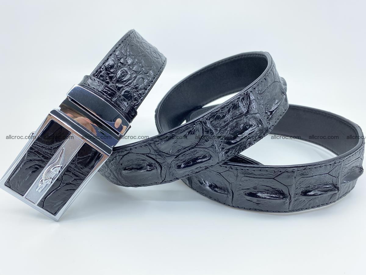 Crocodile leather hornback belt 715 Foto 14