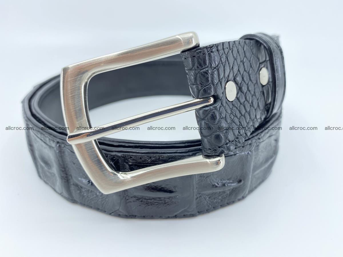 Crocodile leather hornback belt 717 Foto 0