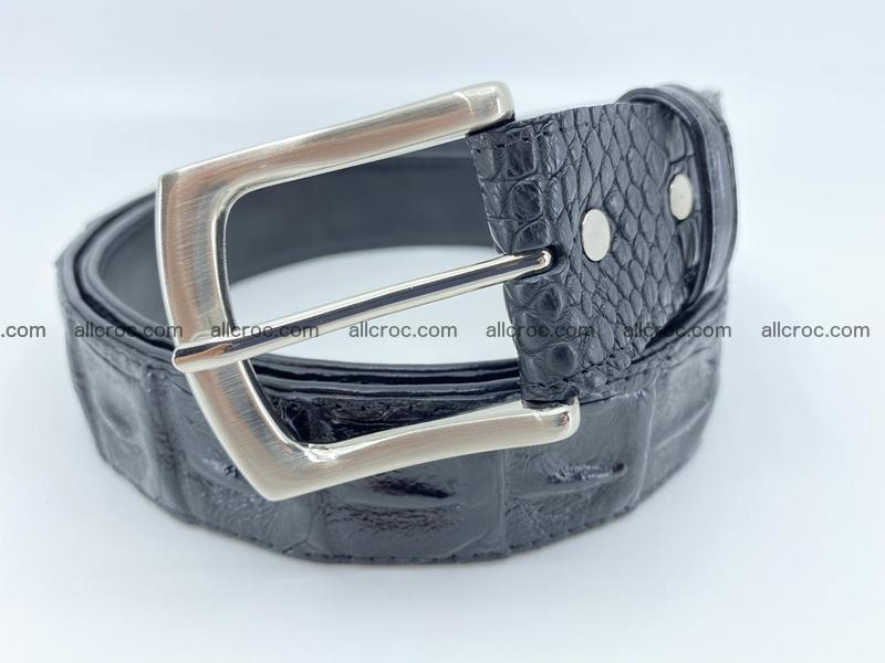 Crocodile leather hornback belt 1116