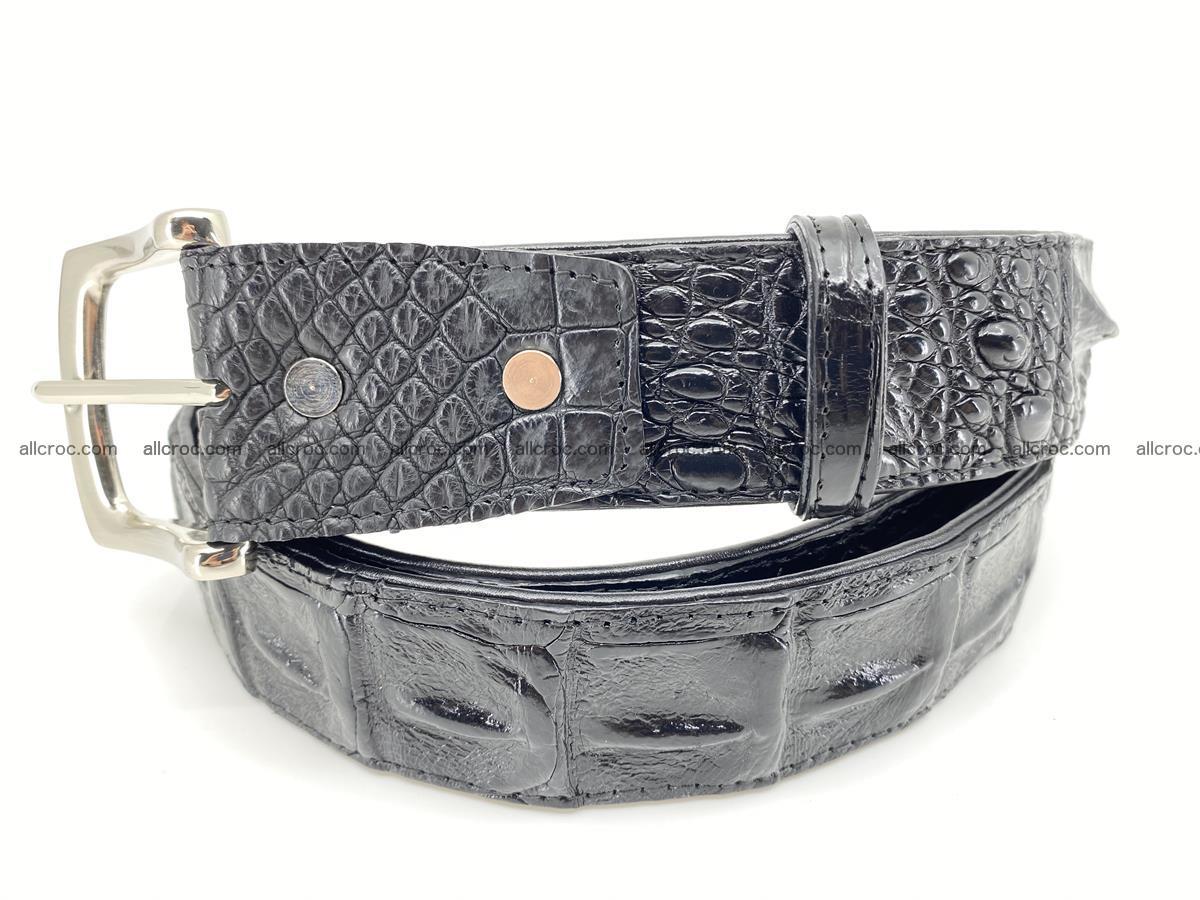 Crocodile leather hornback belt 717 Foto 1