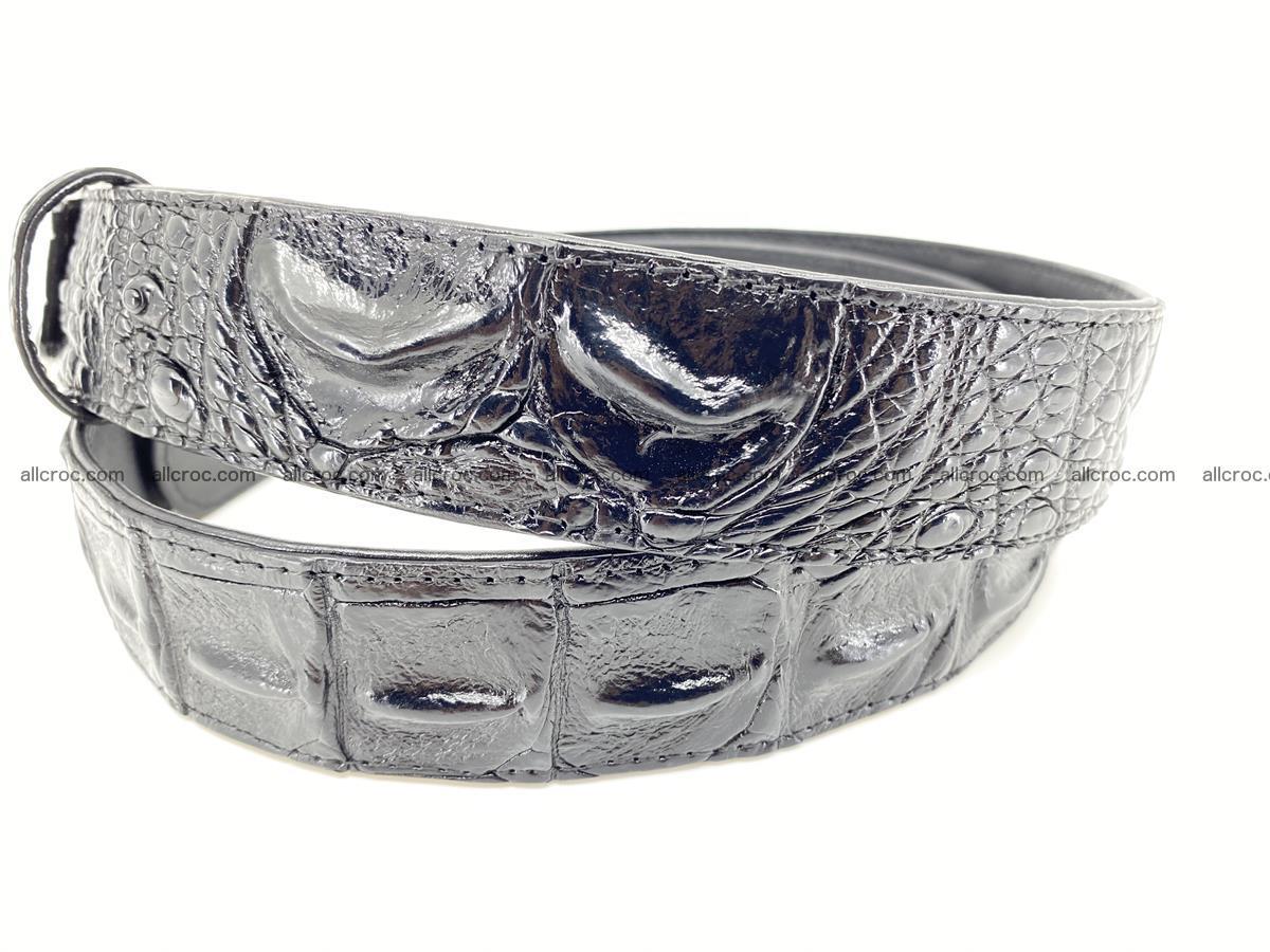 Crocodile leather hornback belt 717 Foto 2