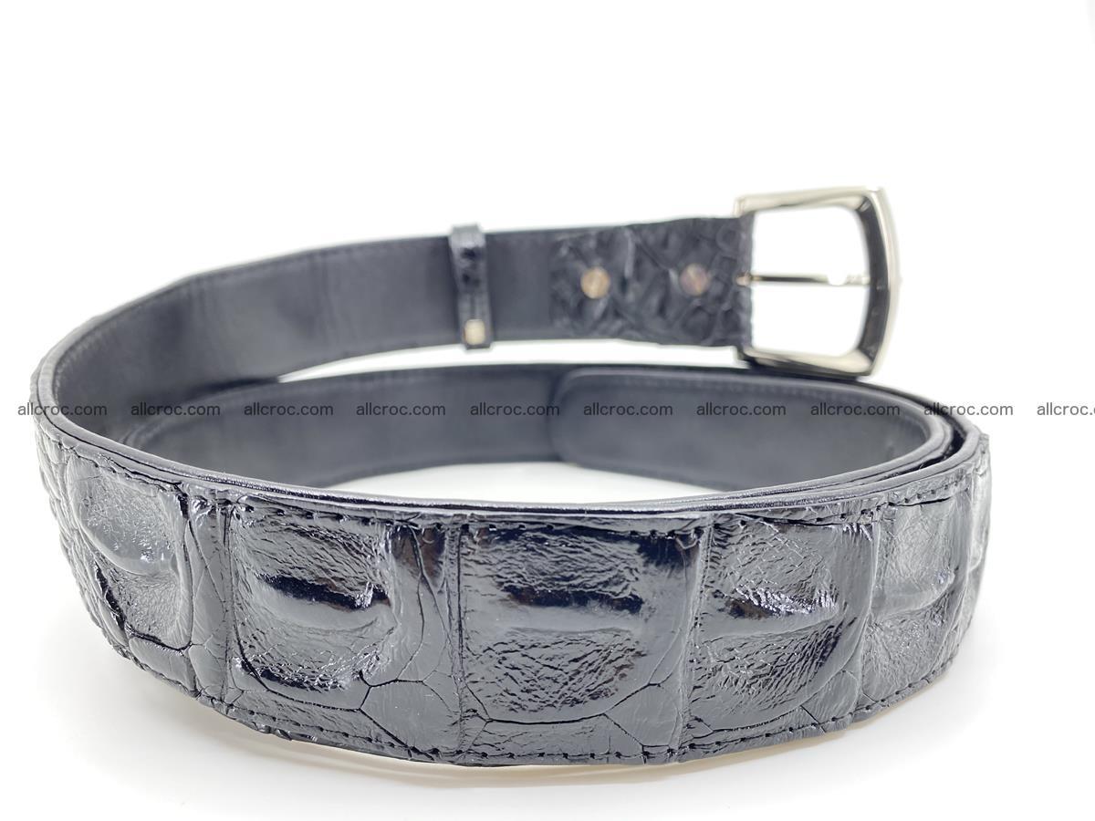 Crocodile leather hornback belt 717 Foto 3