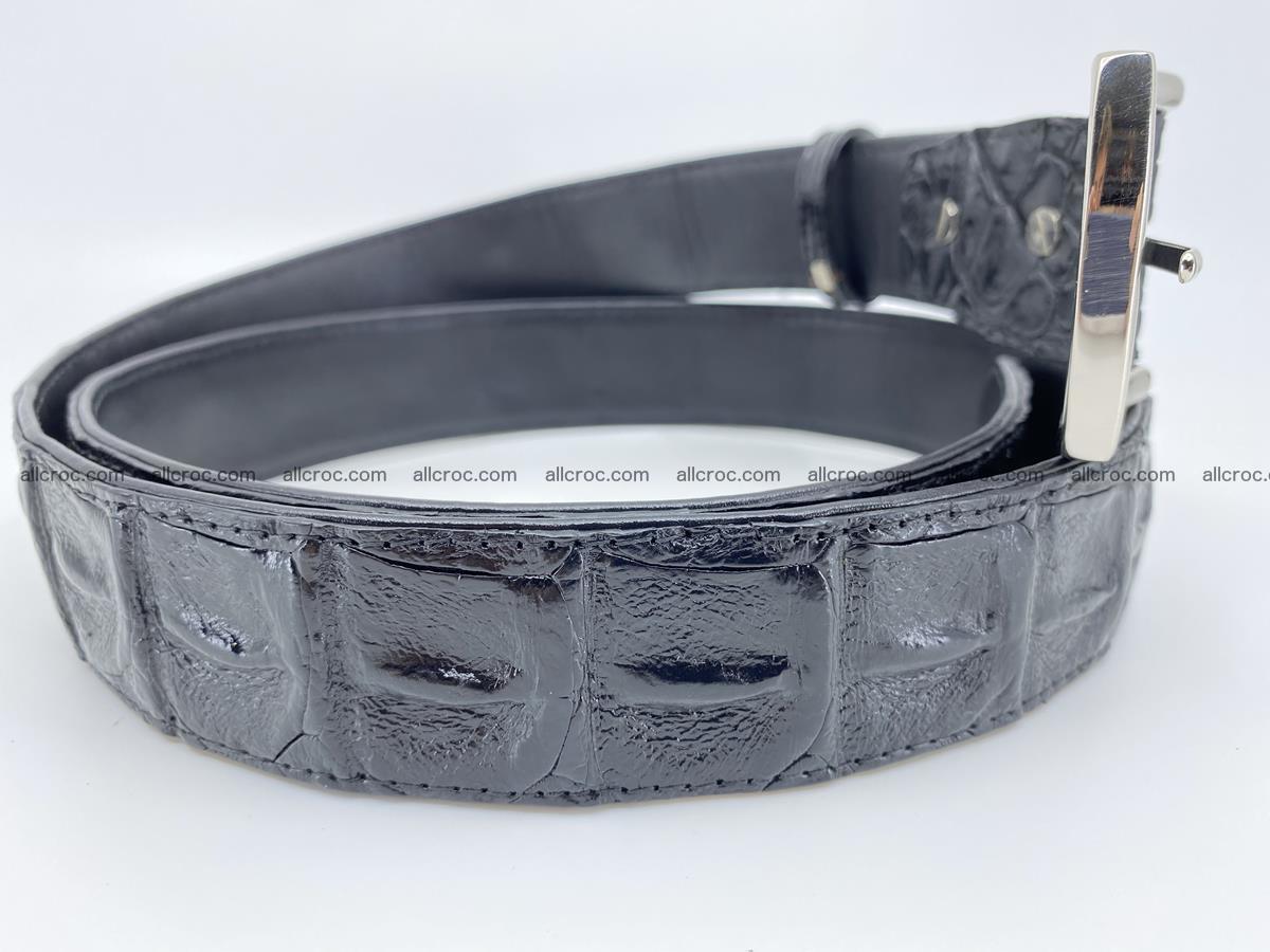 Crocodile leather hornback belt 717 Foto 5