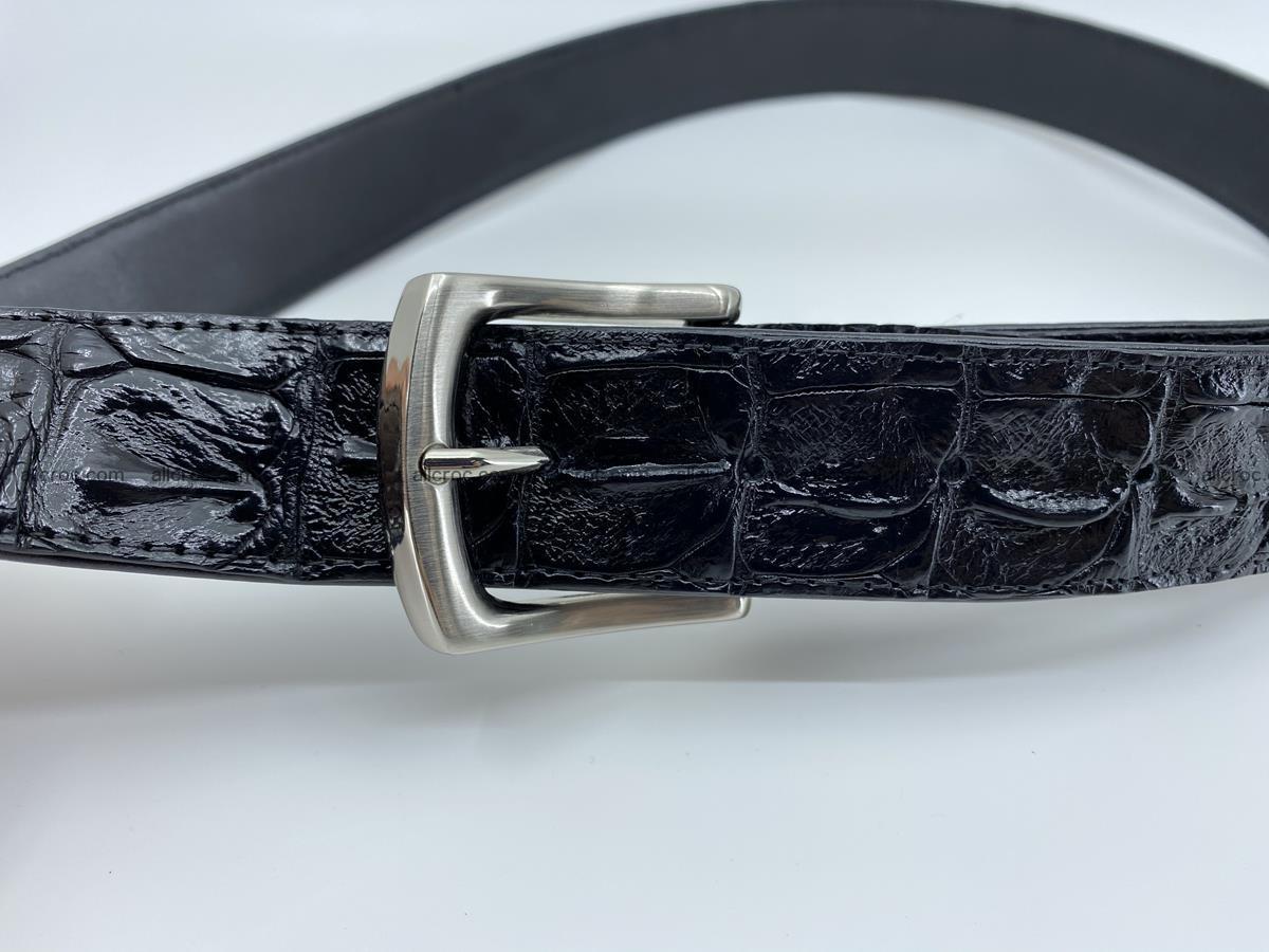 Crocodile leather hornback belt 717 Foto 4
