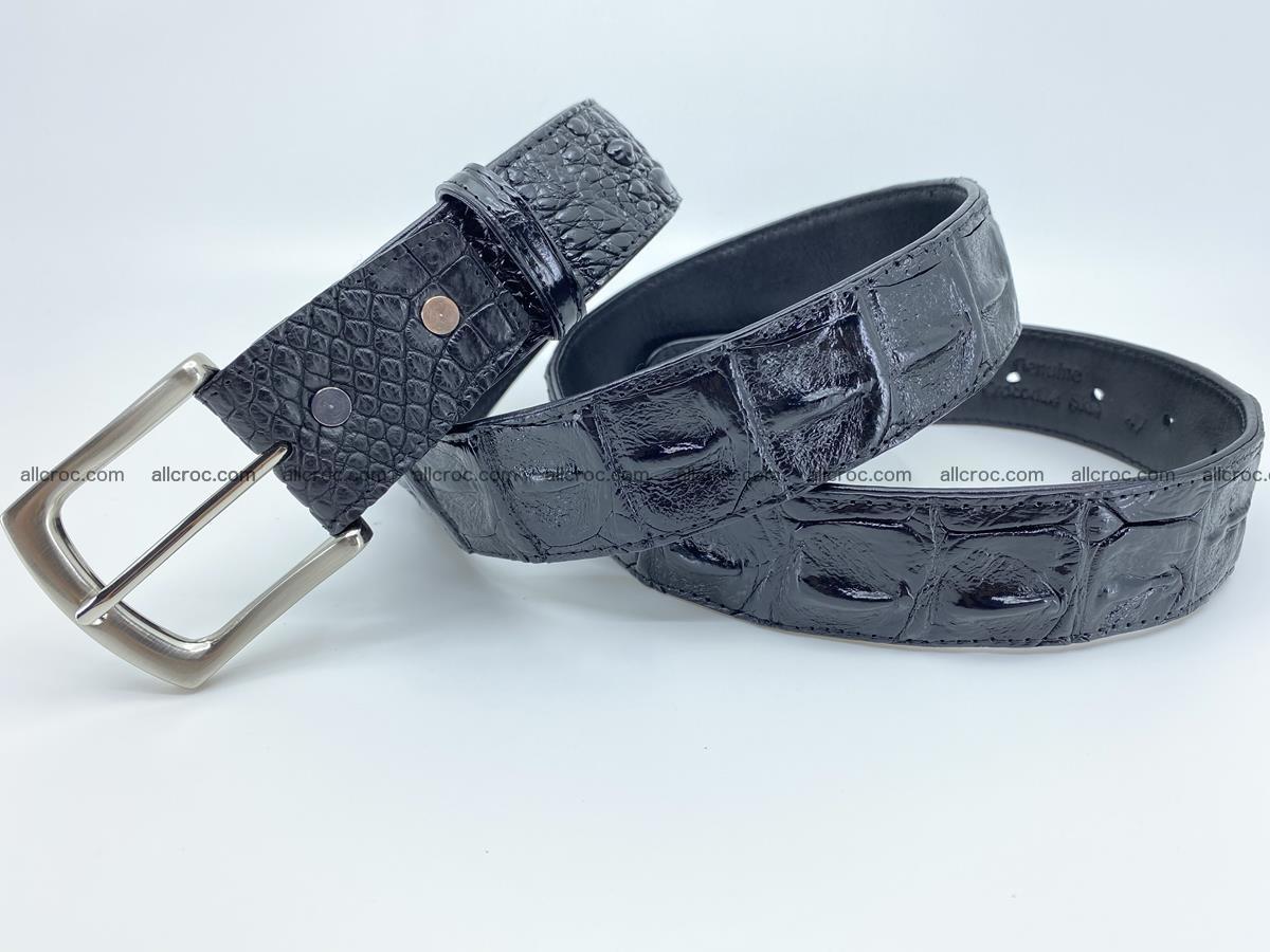 Crocodile leather hornback belt 717 Foto 6