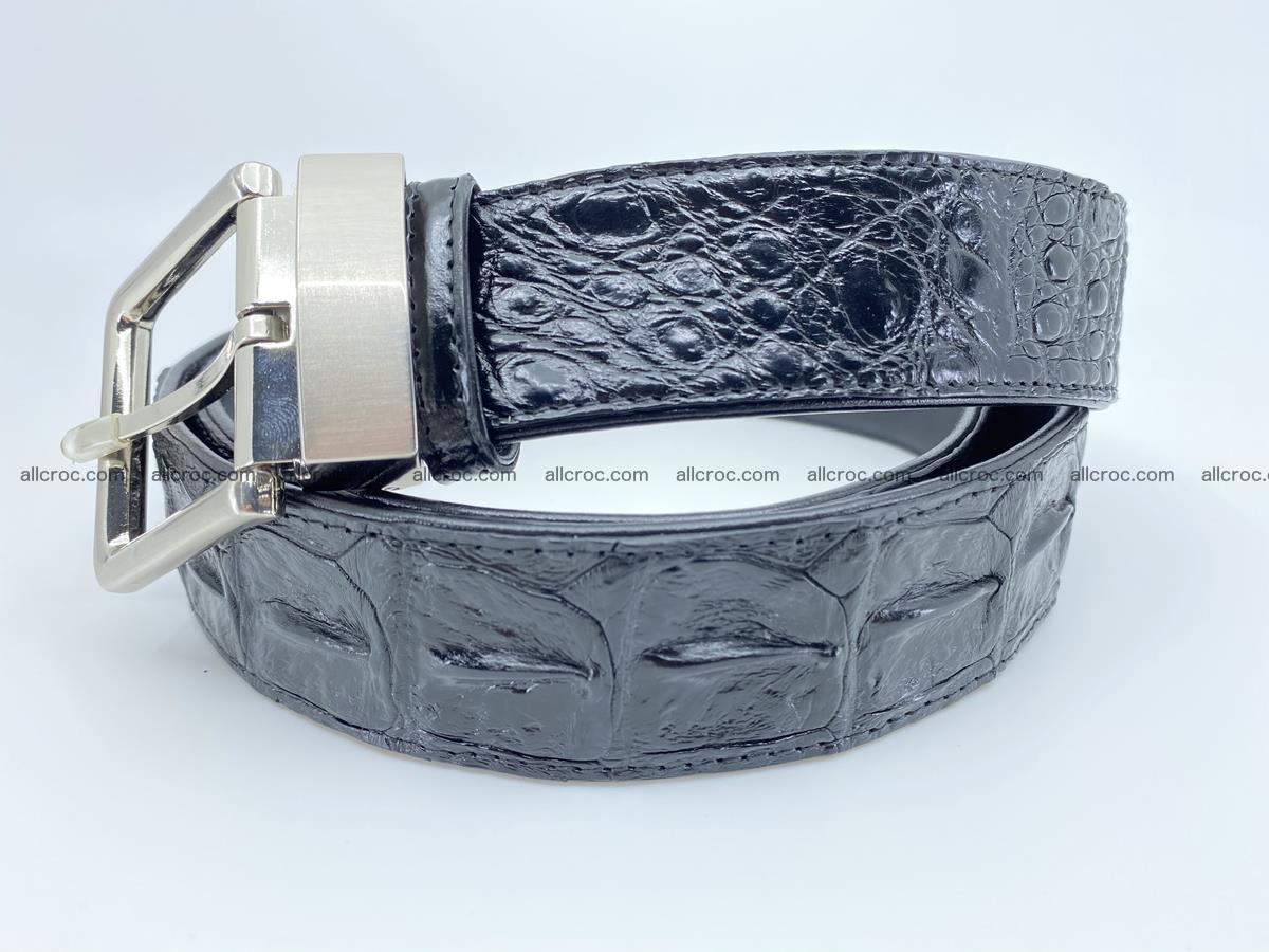 Crocodile leather hornback belt 718 Foto 1