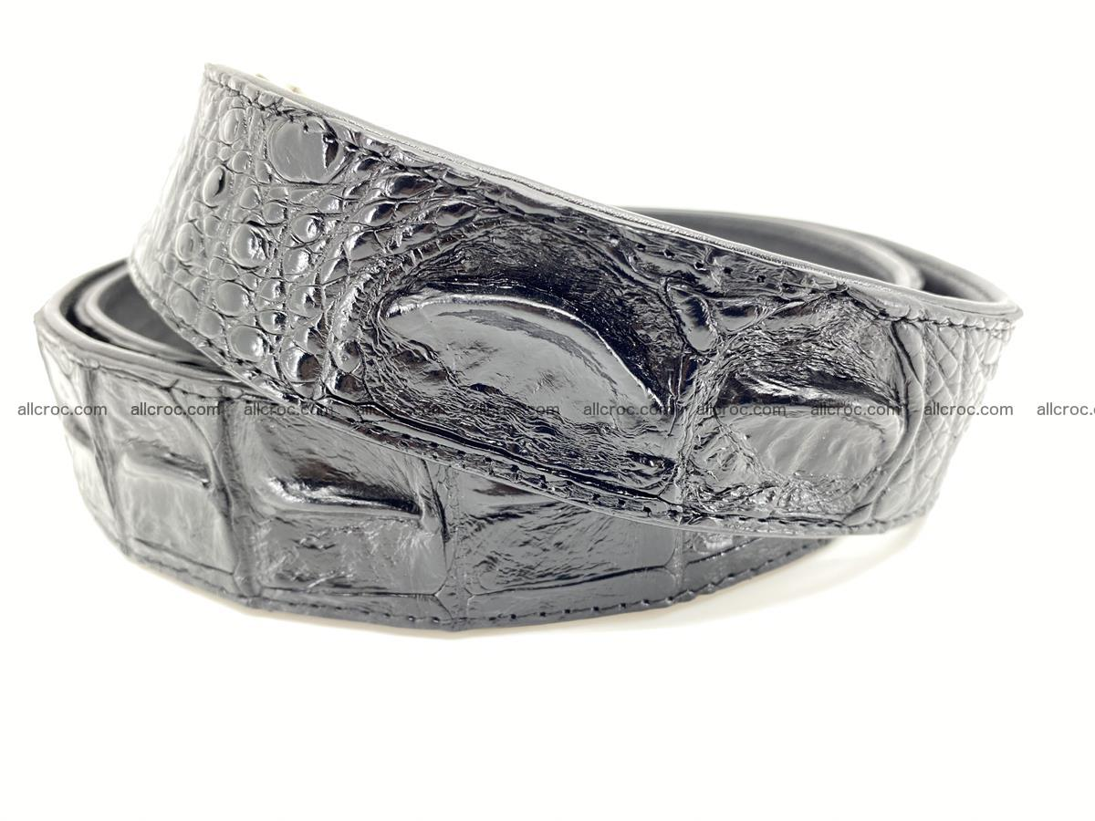 Crocodile leather hornback belt 718 Foto 2