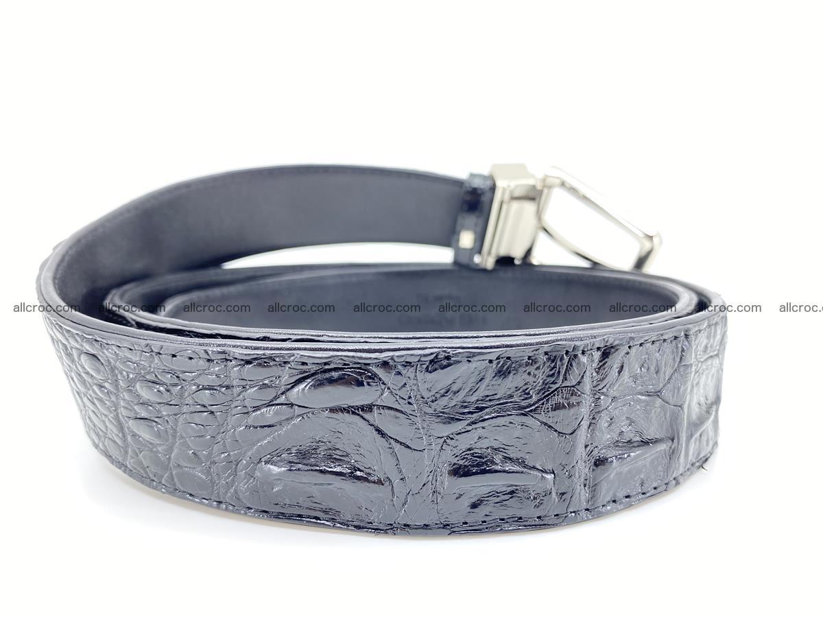 Crocodile leather hornback belt 718 Foto 3