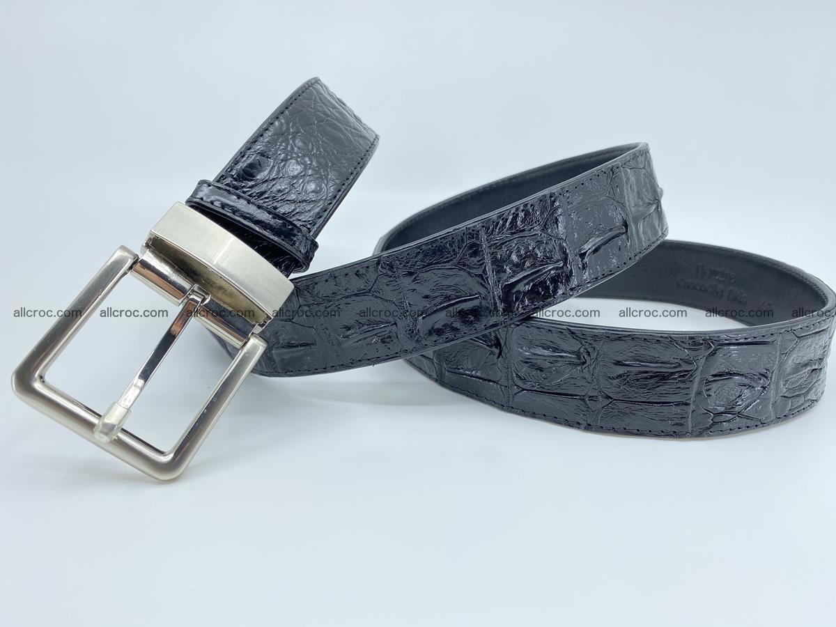 Crocodile leather hornback belt 718 Foto 6