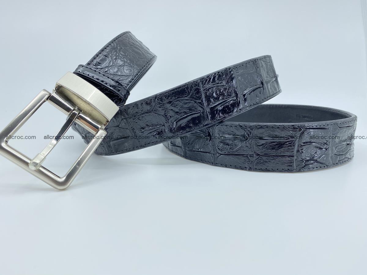 Crocodile leather hornback belt 718 Foto 5
