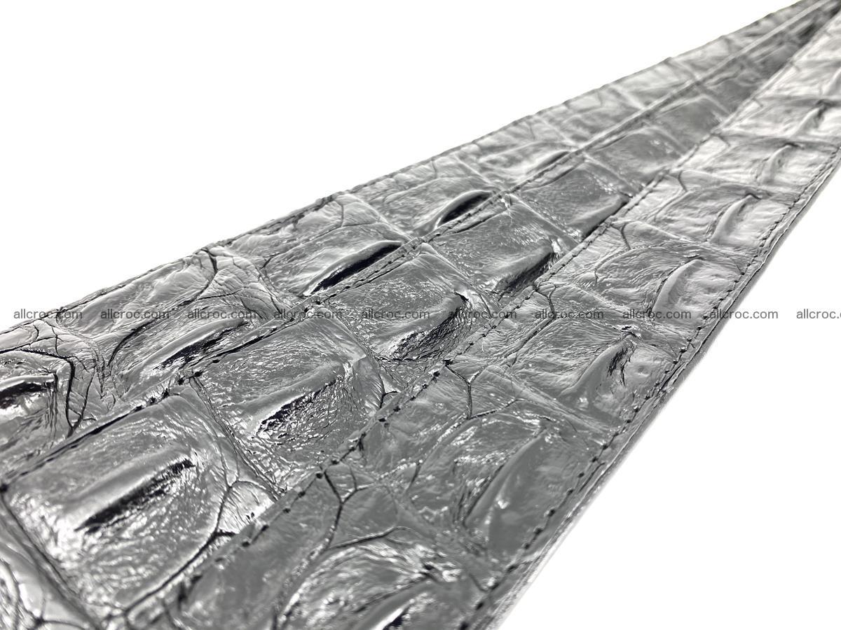 Crocodile leather hornback belt 717 Foto 15
