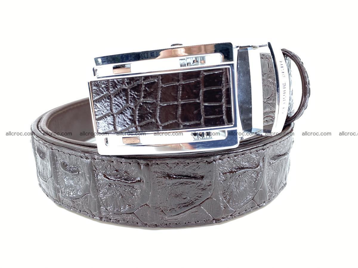 Crocodile leather hornback belt 710 Foto 0