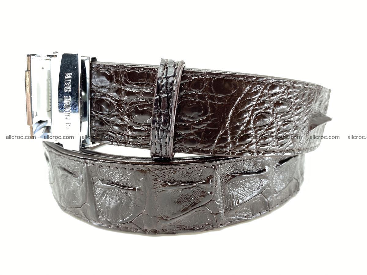 Crocodile leather hornback belt 710 Foto 8