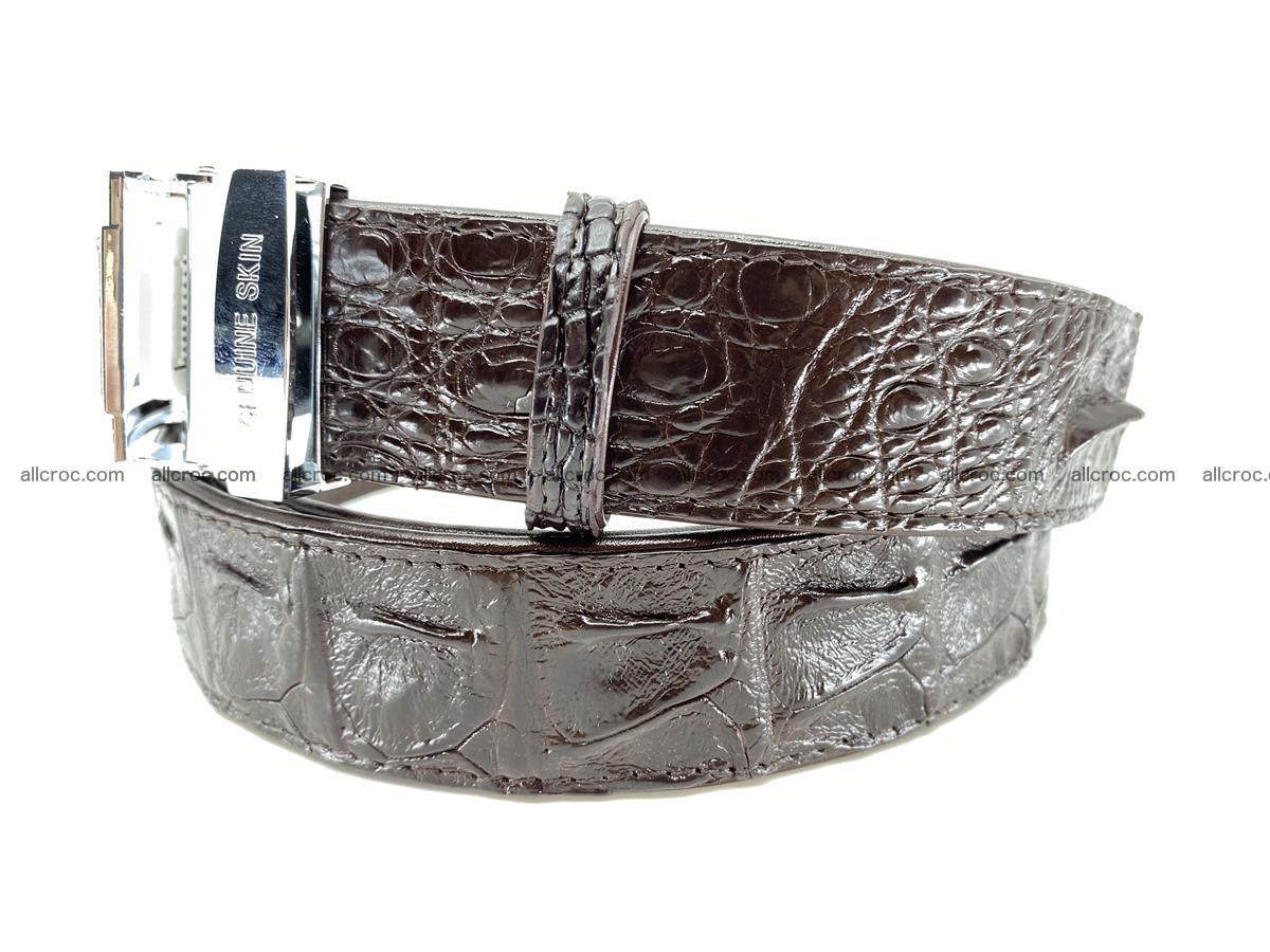 Crocodile leather hornback belt 710 Foto 4