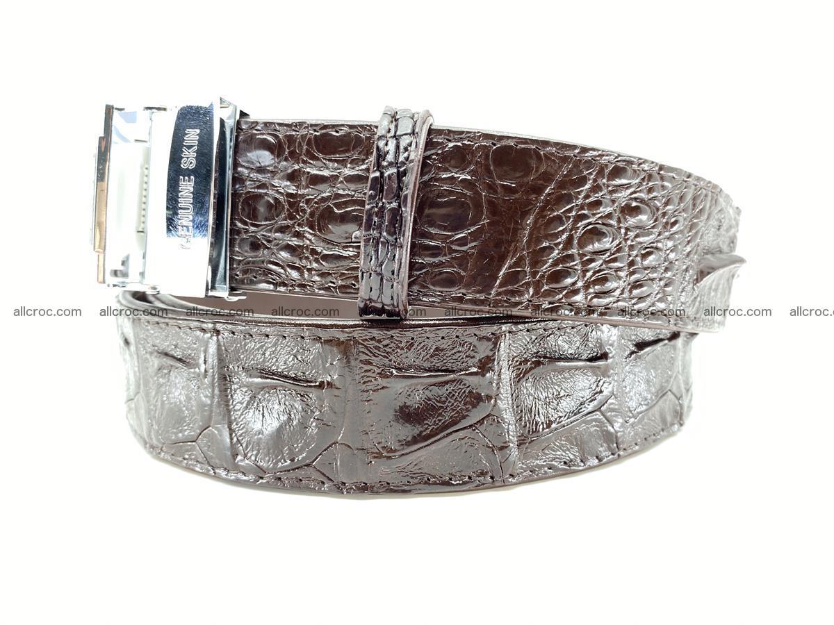 Crocodile leather hornback belt 710 Foto 7