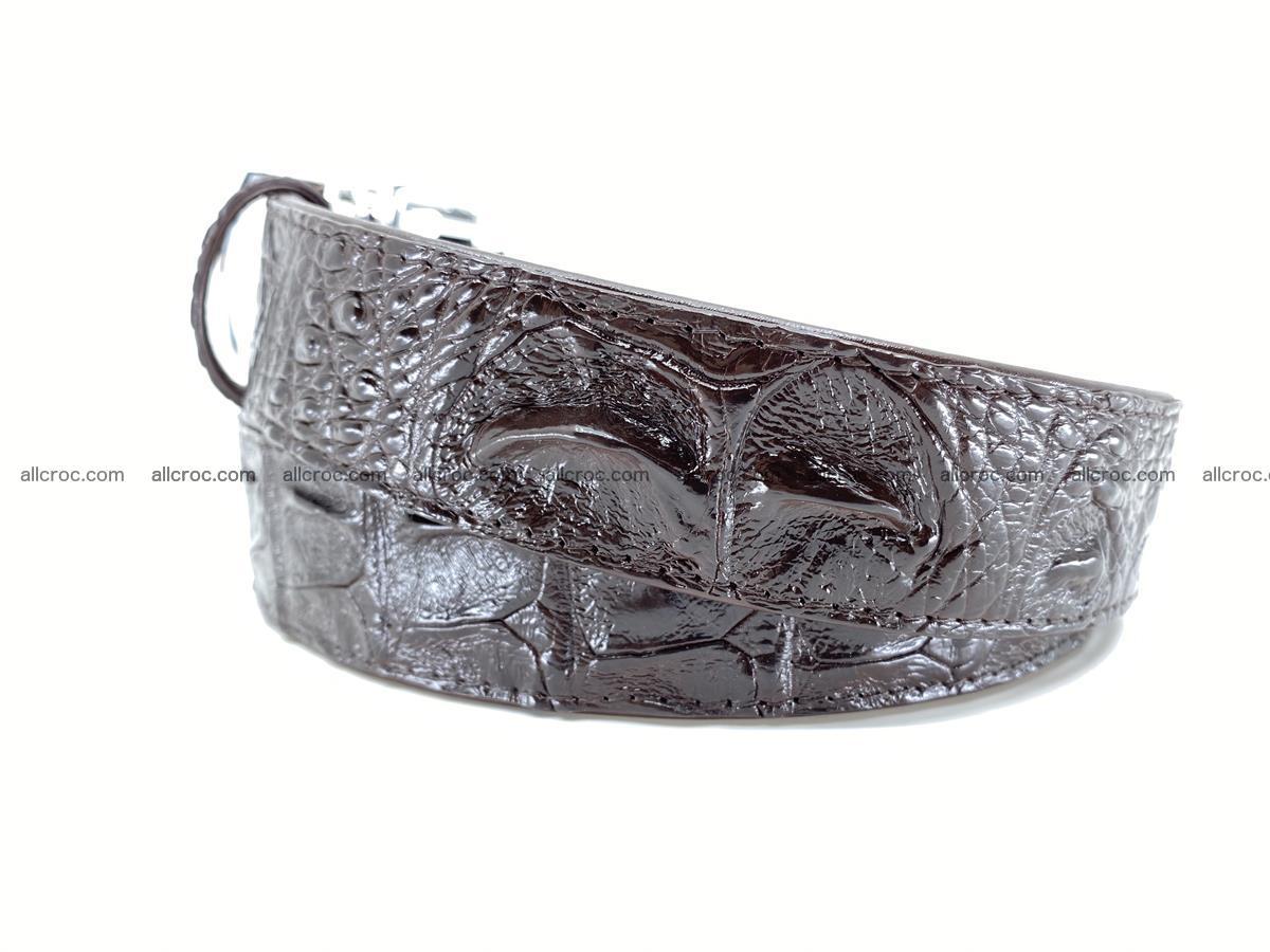 Crocodile leather hornback belt 710 Foto 6
