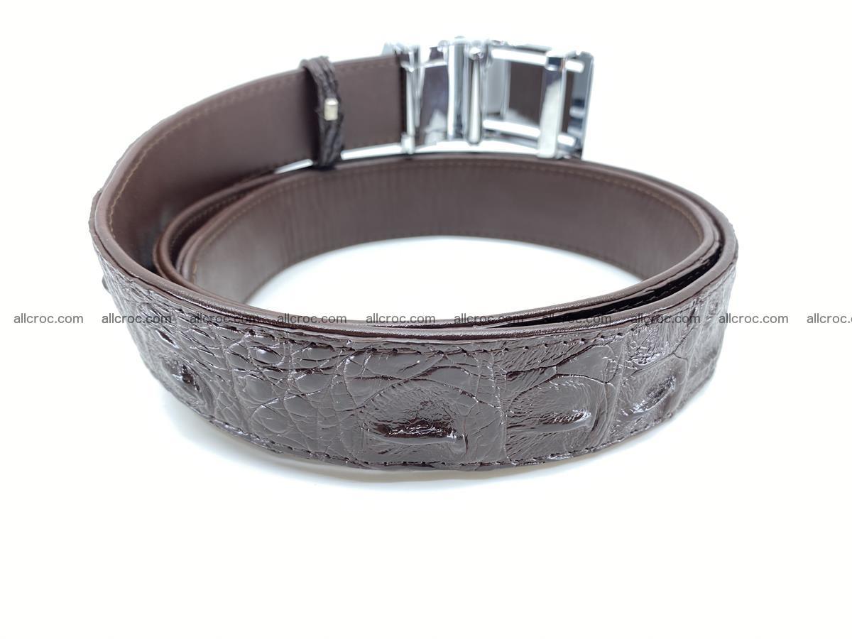 Crocodile leather hornback belt 710 Foto 9