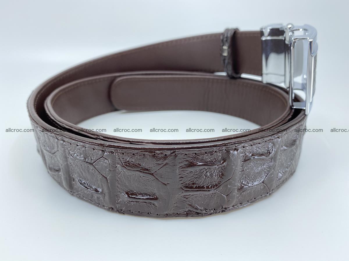 Crocodile leather hornback belt 710 Foto 10