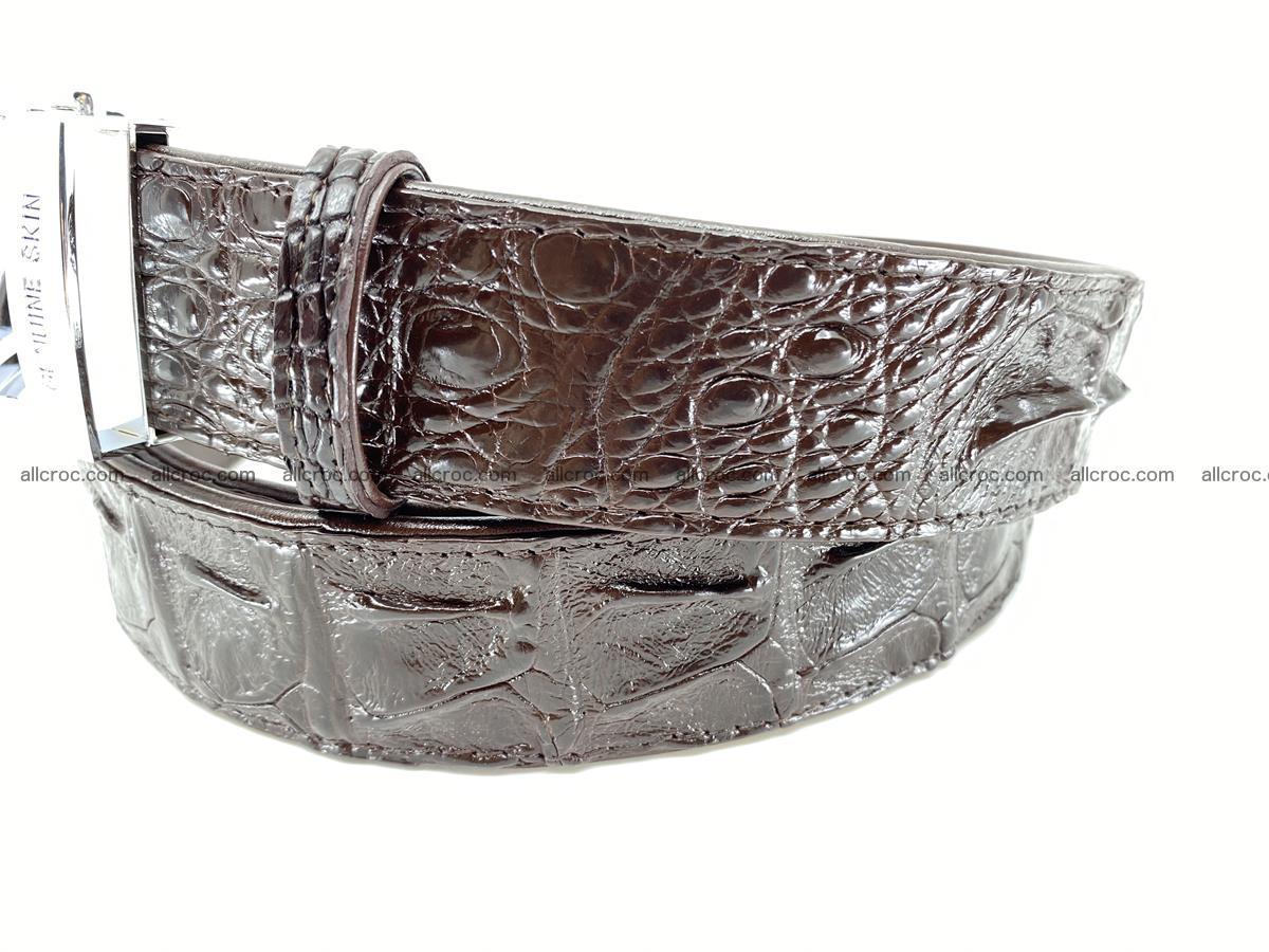 Crocodile leather hornback belt 710 Foto 5
