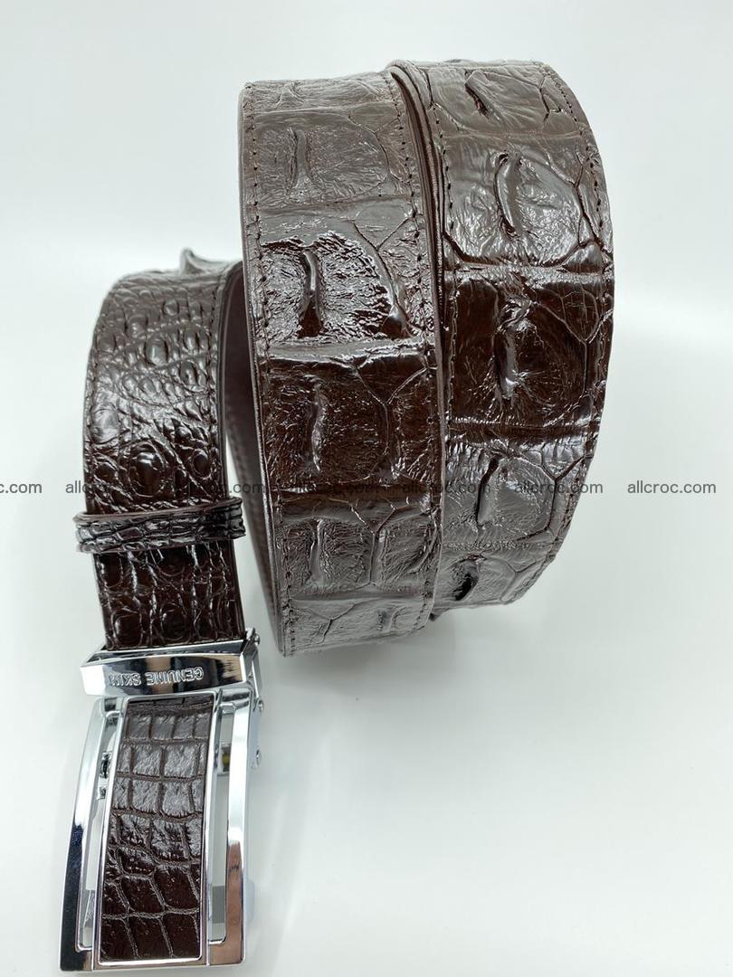 Crocodile leather hornback belt 710 Foto 2