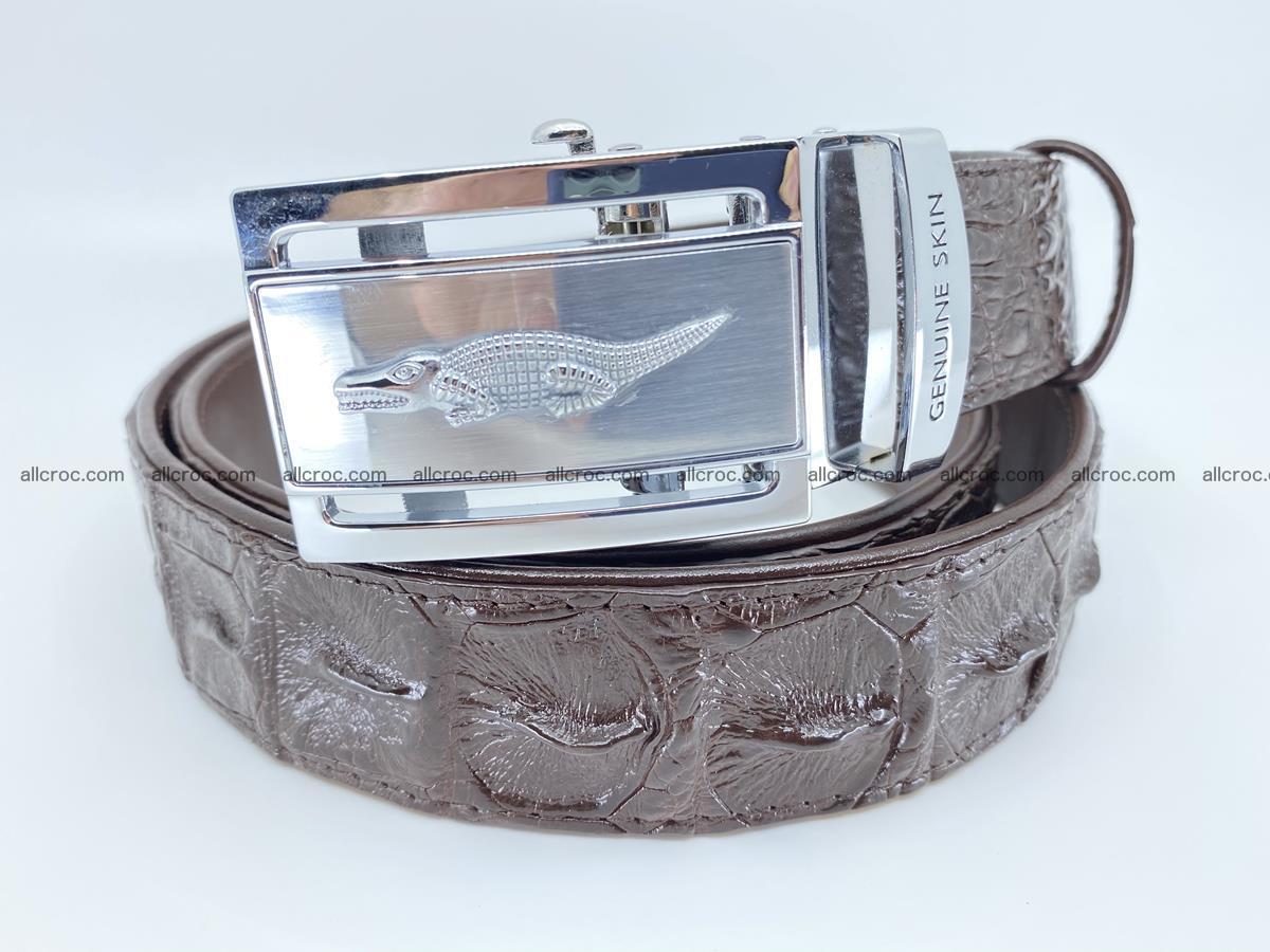 Crocodile leather hornback belt 721 Foto 0