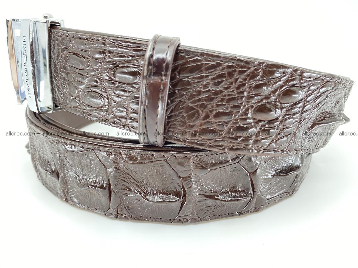 Crocodile leather hornback belt 721 Foto 2
