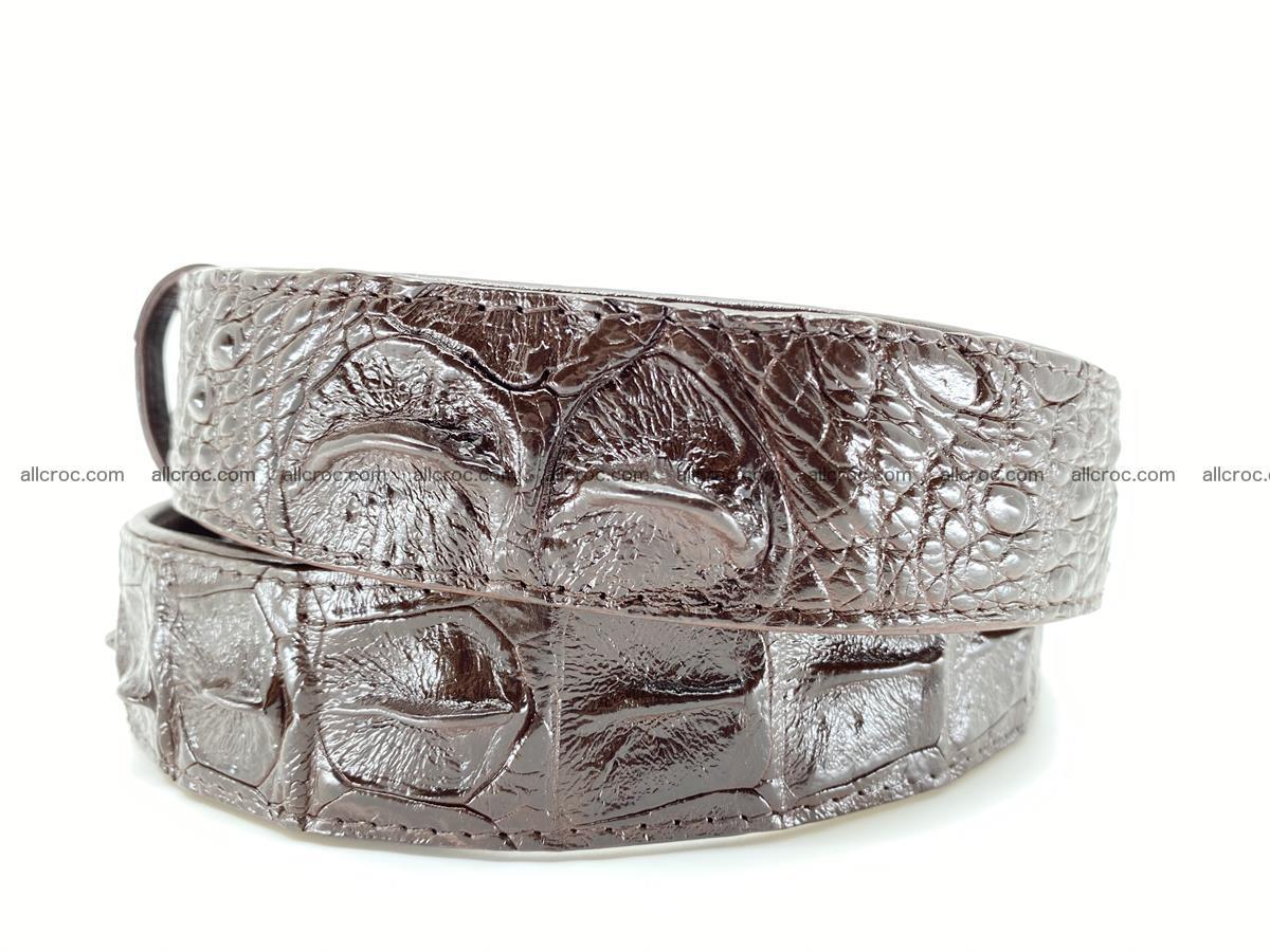 Crocodile leather hornback belt 721 Foto 5
