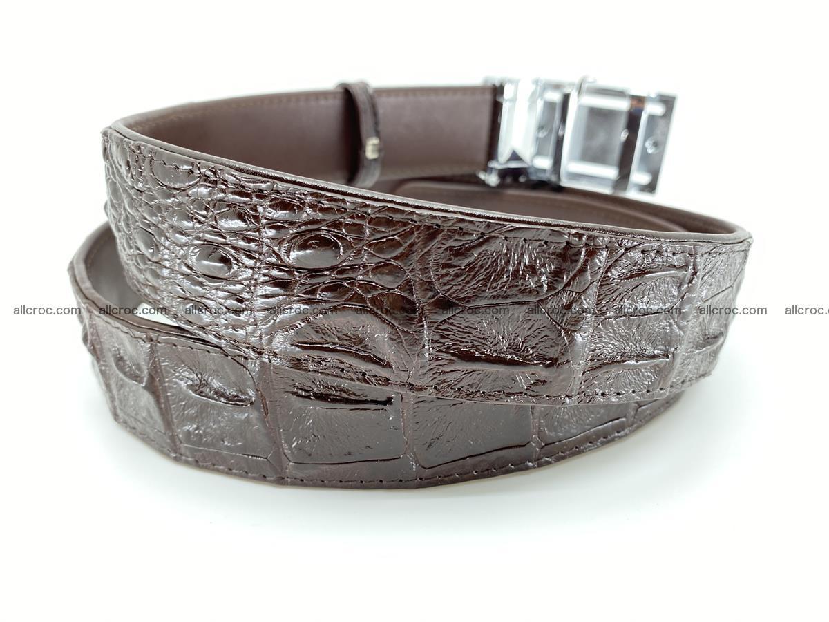 Crocodile leather hornback belt 721 Foto 3