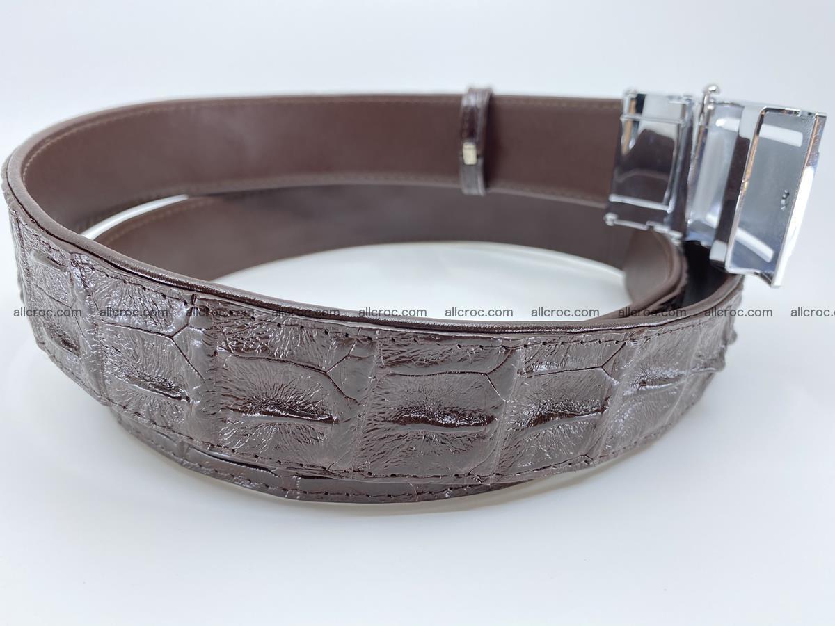 Crocodile leather hornback belt 721 Foto 4