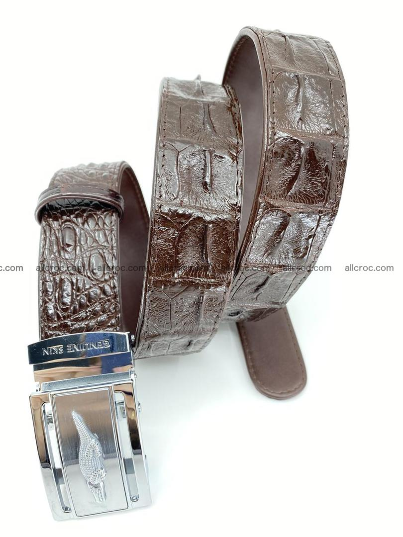 Crocodile leather hornback belt 721 Foto 6