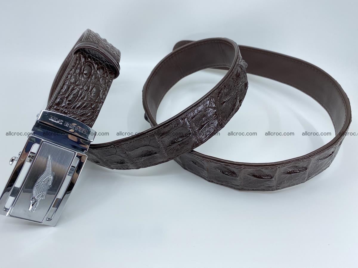 Crocodile leather hornback belt 721 Foto 7
