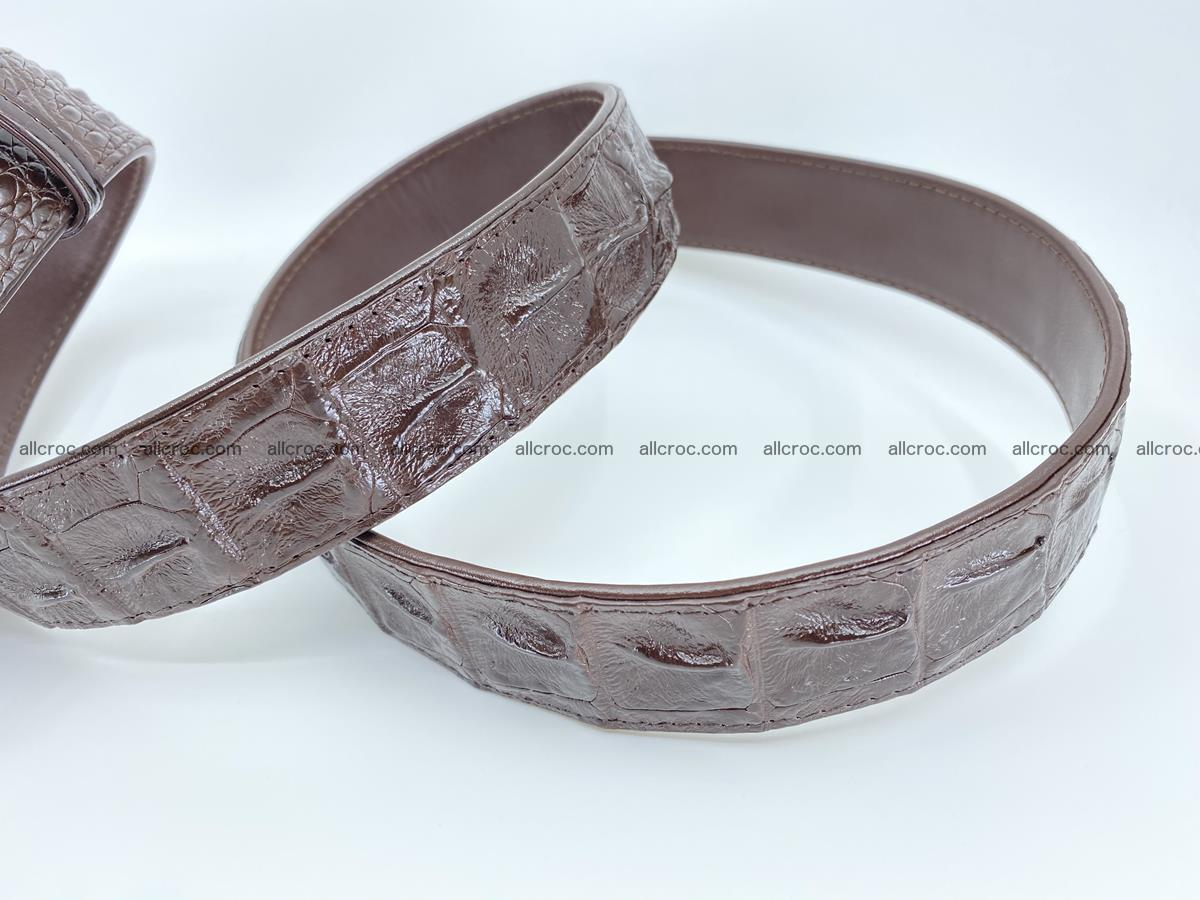 Crocodile leather hornback belt 721 Foto 8