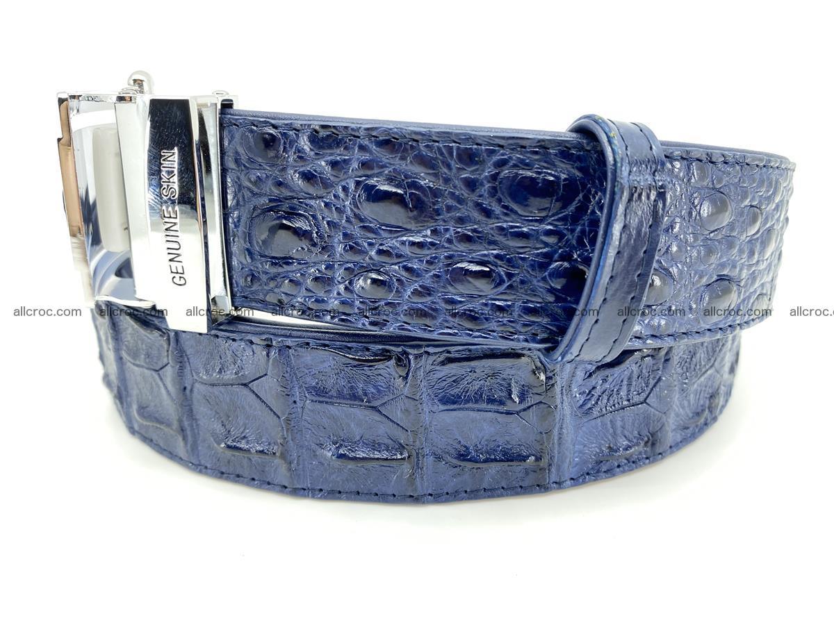 Crocodile leather hornback belt 711 Foto 1