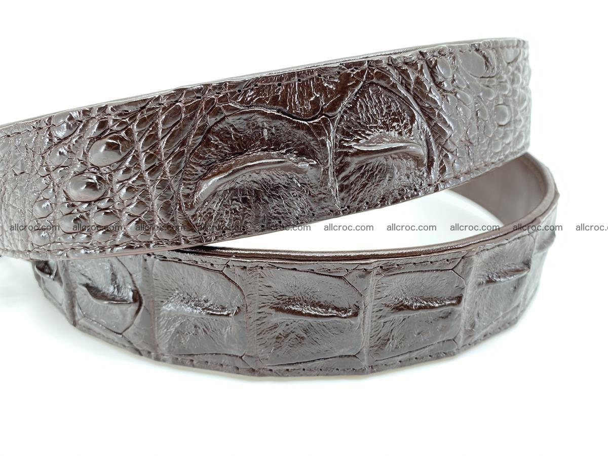 Crocodile leather hornback belt 716 Foto 3