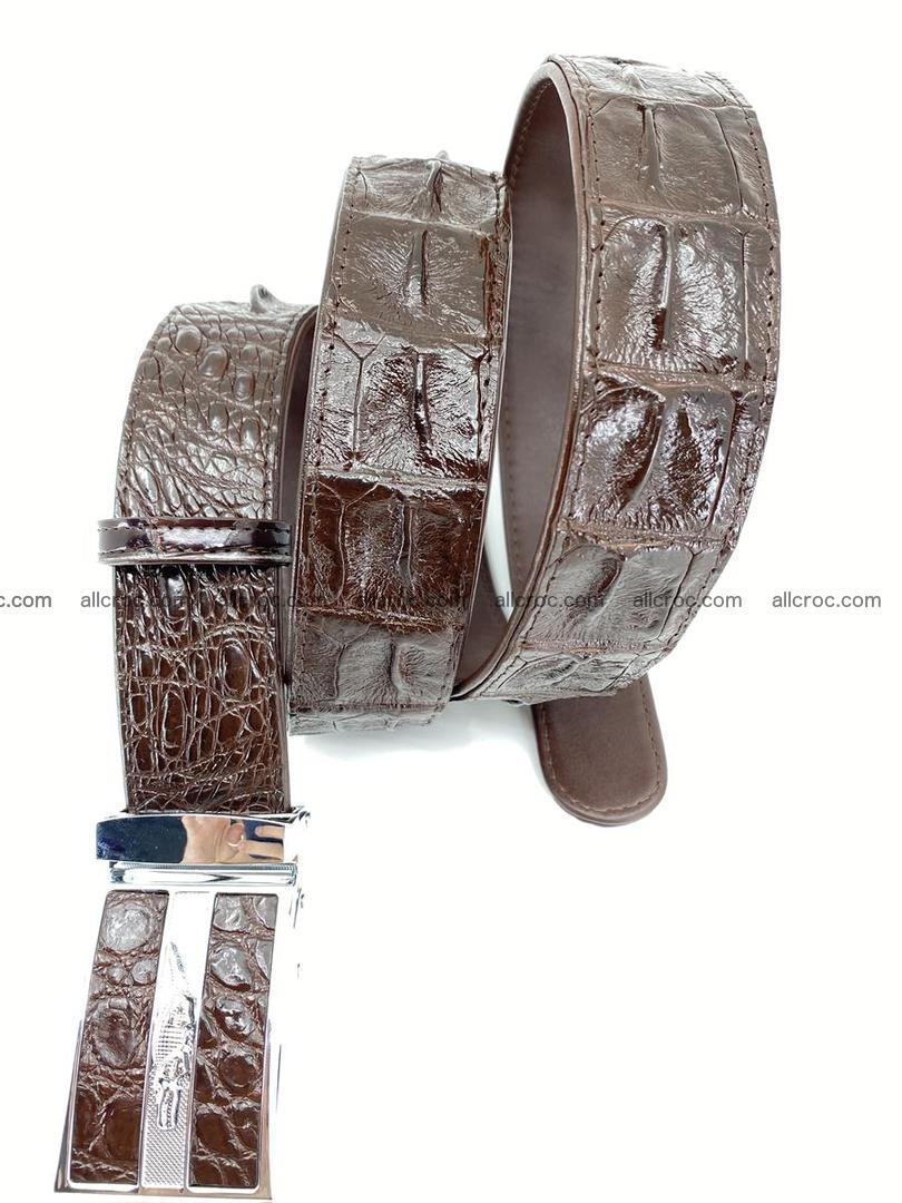 Crocodile leather hornback belt 716 Foto 4