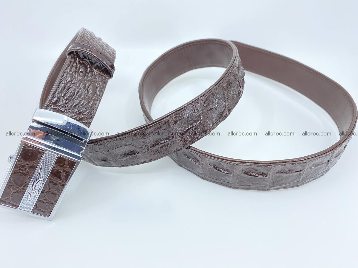 Crocodile leather hornback belt 716 Foto 5