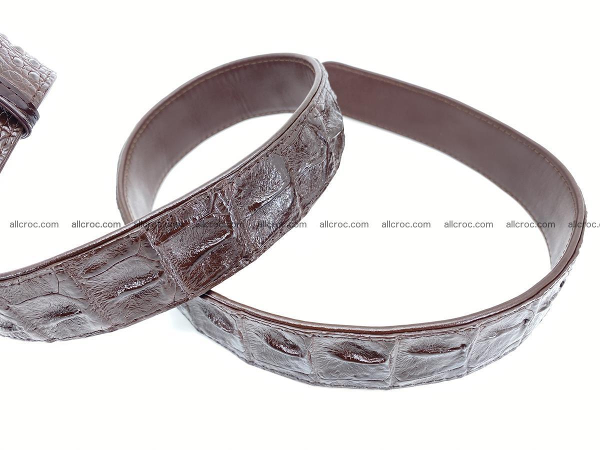 Crocodile leather hornback belt 716 Foto 6