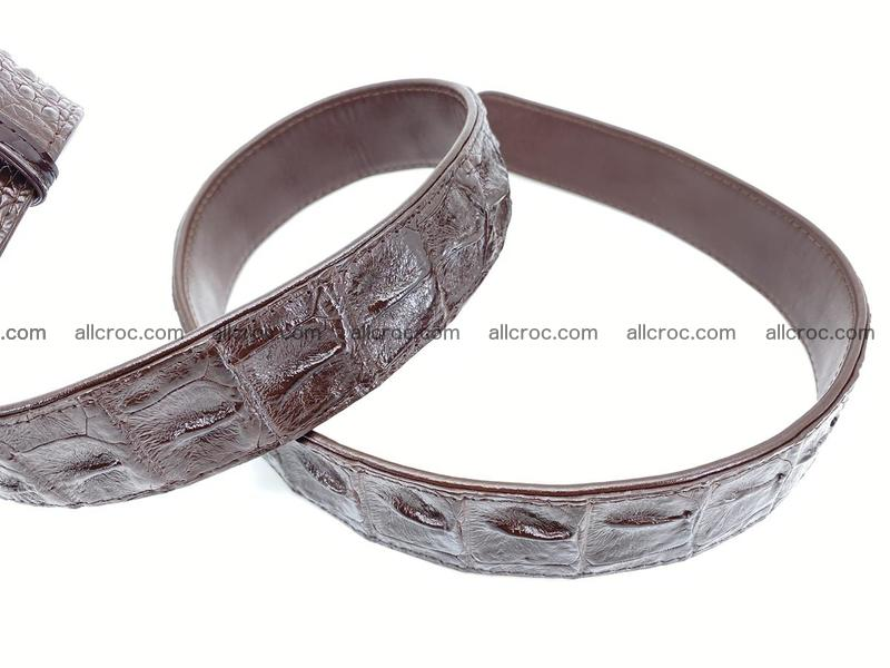 Crocodile leather hornback belt 1115