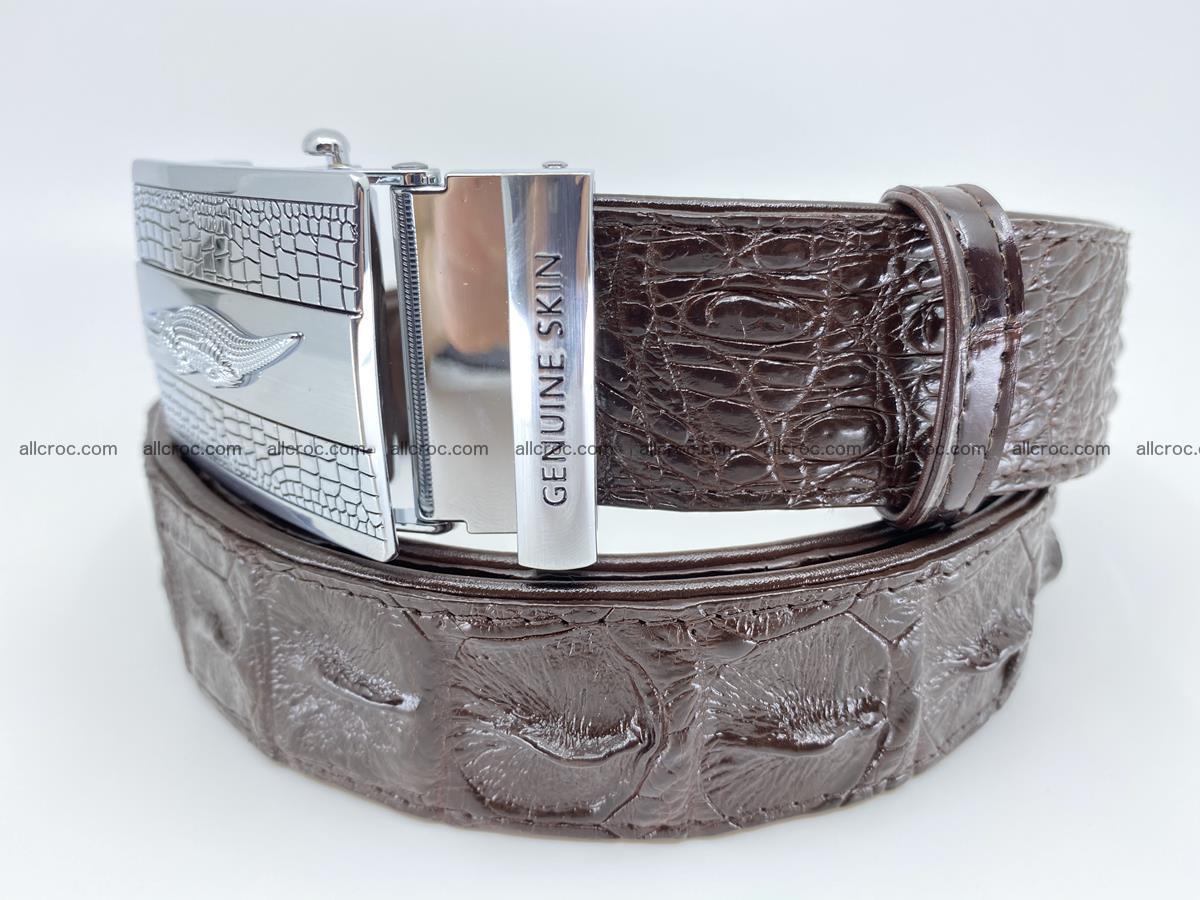 Crocodile leather hornback belt 713 Foto 7