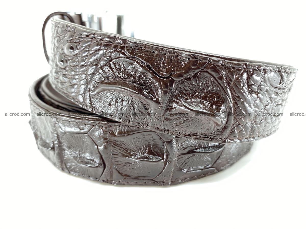 Crocodile leather hornback belt 713 Foto 6
