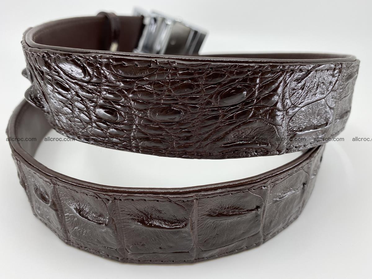 Crocodile leather hornback belt 713 Foto 5