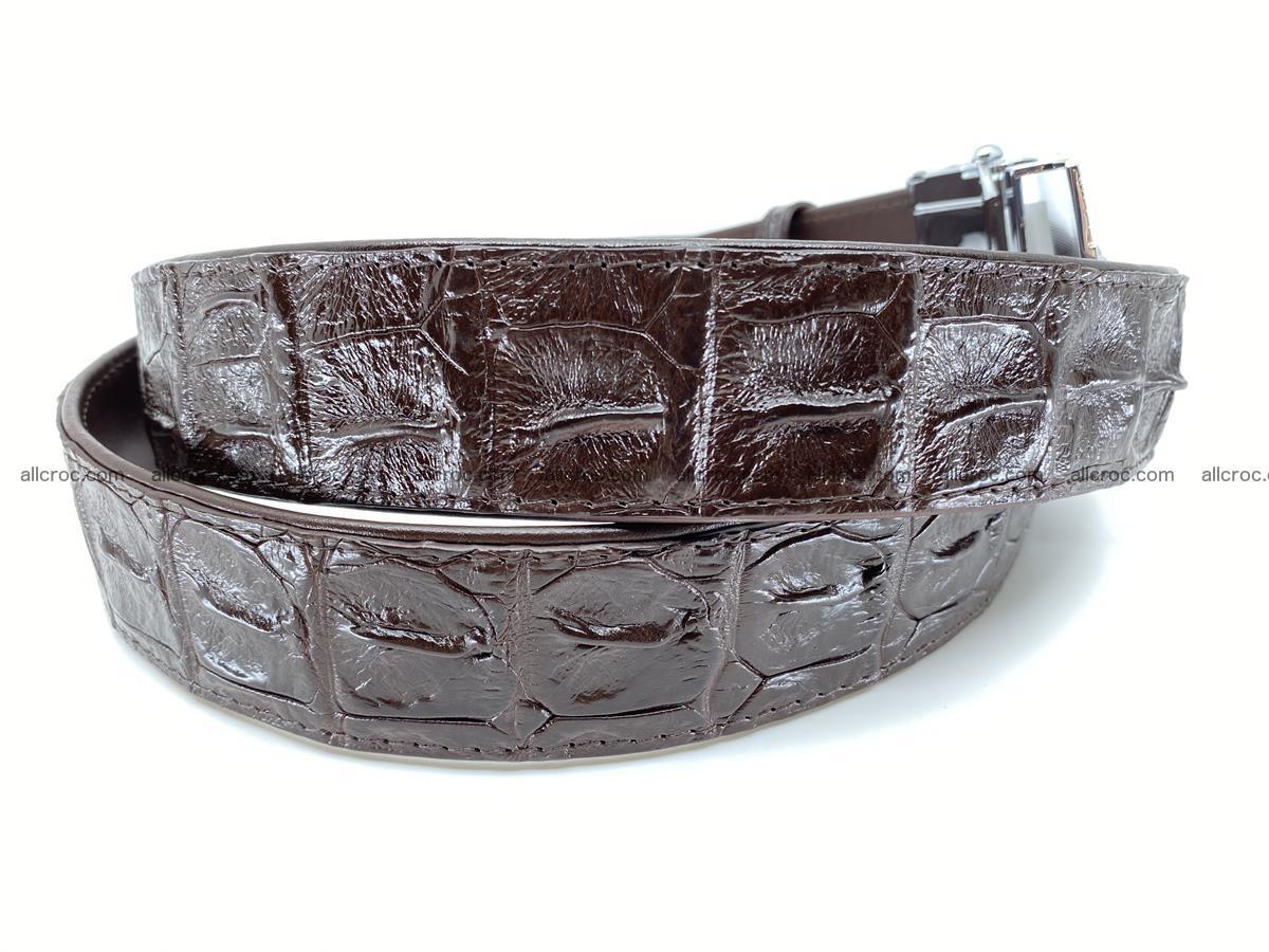 Crocodile leather hornback belt 713 Foto 2