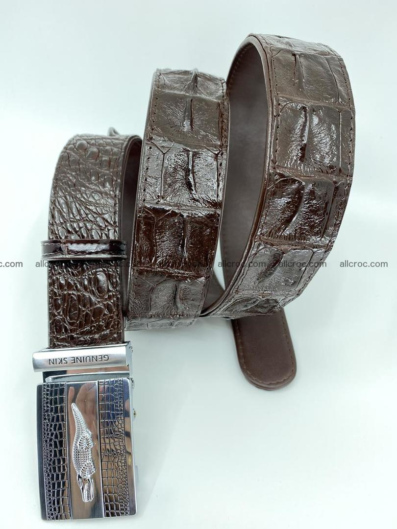 Crocodile leather hornback belt 713 Foto 3