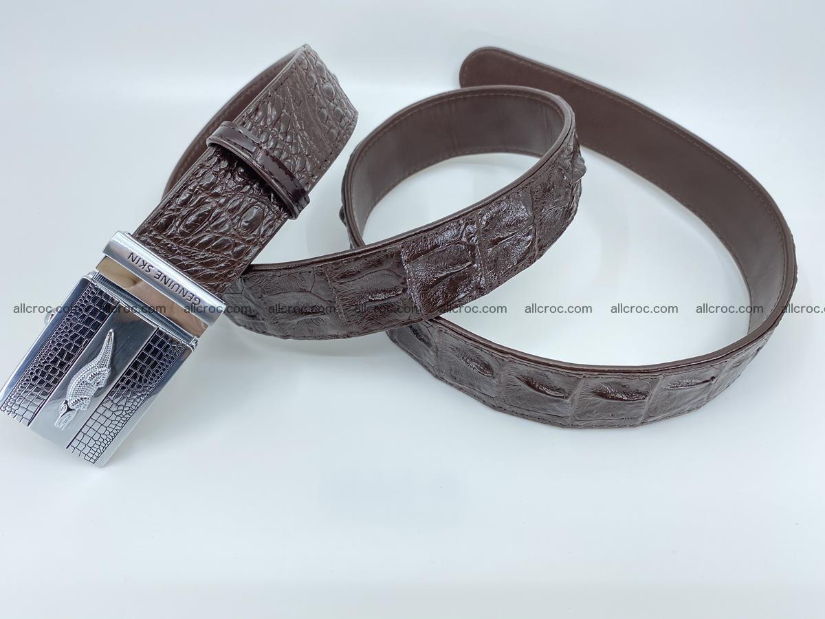 Crocodile leather hornback belt 713 Foto 1
